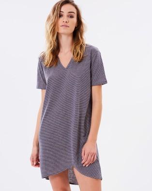 Nana Judy – Robison Dress – Dresses (Grey & White Stripe)