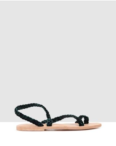 Sempre Di Azalea Sandals Dark Green