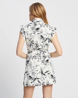 MINKPINK Utility Shirt Dress - Printed Dresses (Multi Leaf)