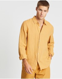 Assembly Label - Casual Long Sleeve Linen Shirt