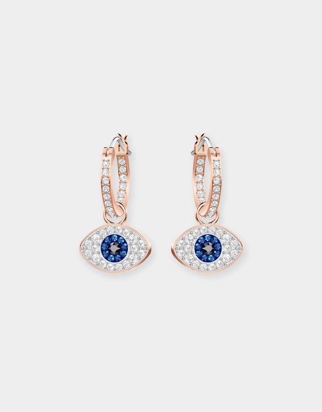 Swarovski - Duo Evil Eye Hoop Earrings