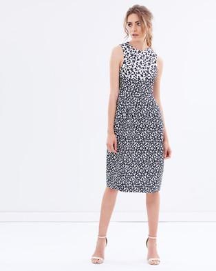 BY JOHNNY. – Monochrome Liberty Kizzi Dress – Dresses (Black & White)