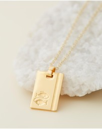Reliquia Jewellery - Pisces 18ct Gold Filled Star Sign Necklace