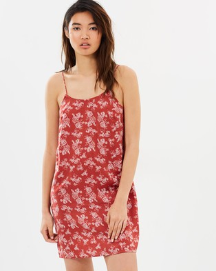 The Fifth Label – Ophelia Dress Spice & Linear Rose