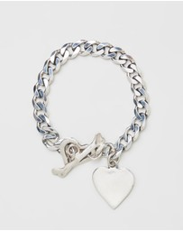 Heart of Bone - Classic Heart Charm Bracelet