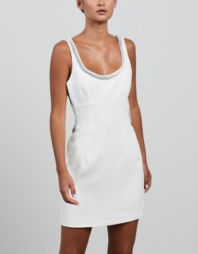 Women Short Rhinestone Dress
