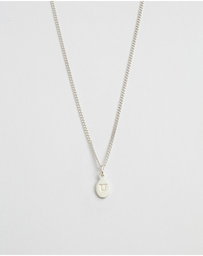 Kirstin Ash Initial U Necklace Sterling Silver