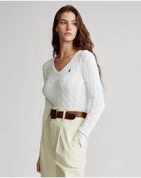 Polo Ralph Lauren - Cable-Knit V-Neck Sweater