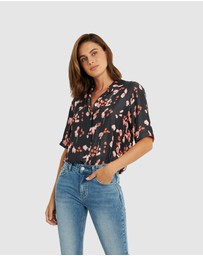 Forcast - Tess Button-Up Blouse