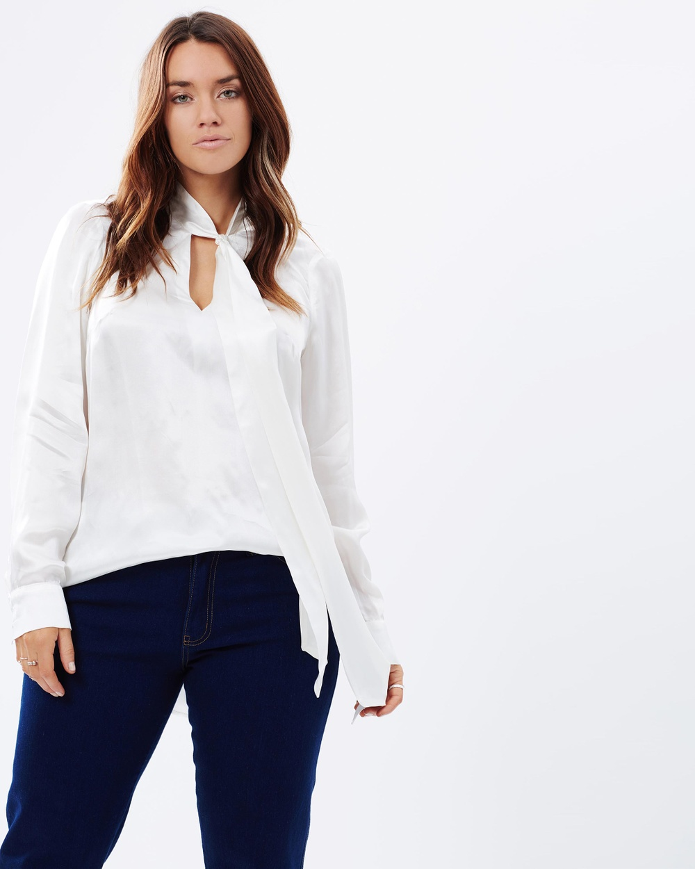 Embody Denim Peggy Top Tops Ivory Peggy Top