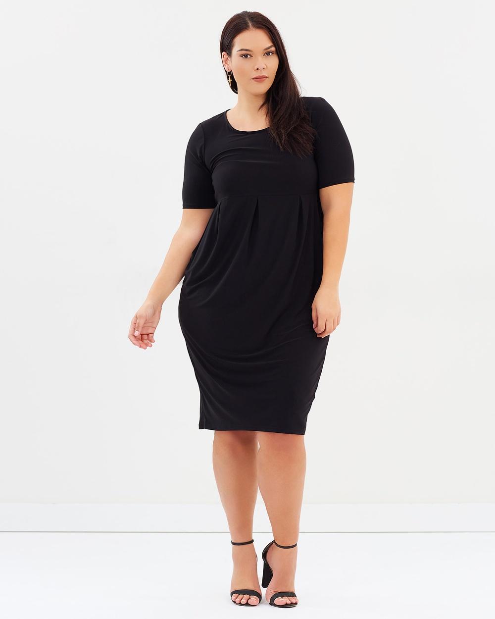 EVANS Scoop Neck Pocket Dress Dresses Black Scoop Neck Pocket Dress