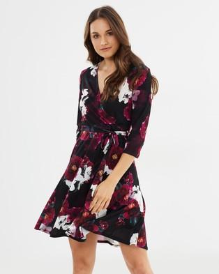 Buy Wallis - Winter Blossom Fit and Flare Dress -  shop Wallis dresses online