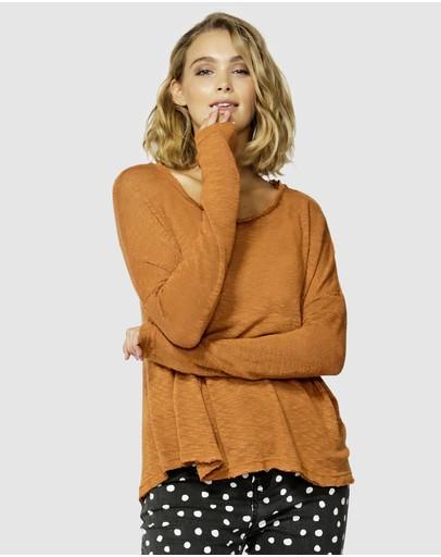 Betty Basics Clio Knit Jumper Clay