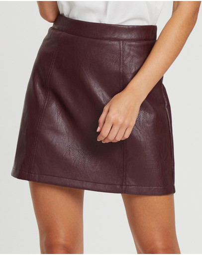 4945400f9 Leather Skirts | Buy Womens Skirts Online Australia- THE ICONIC