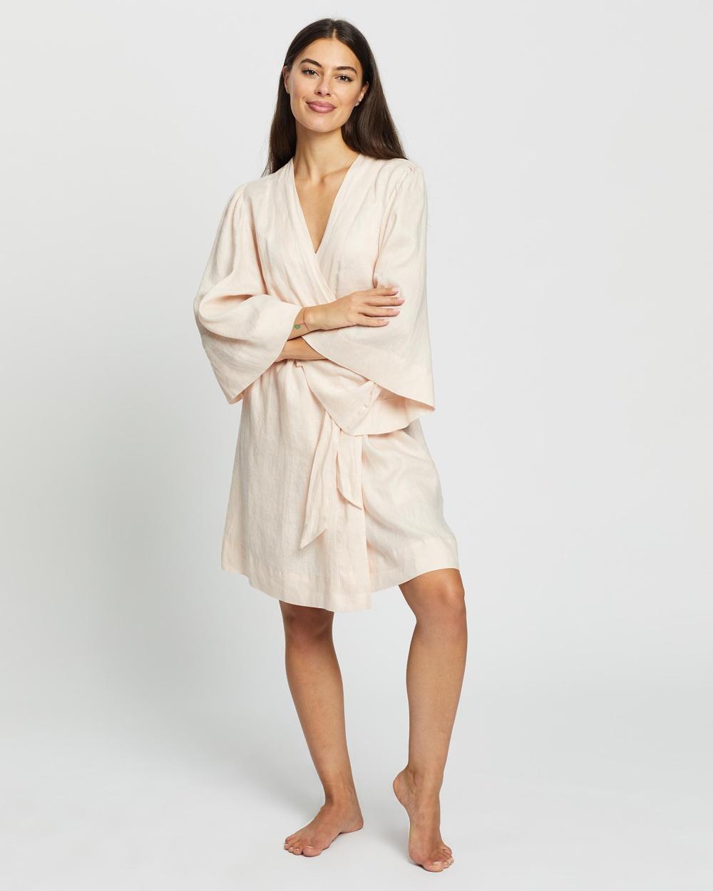 Homebodii Rebecca Robe Sleepwear Blush