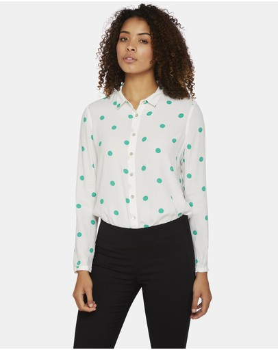 Oxford - Poppy Spot Blouse