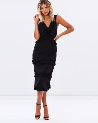 Buy Lioness - Coco Cuba Ruffle Dress - Dresses (Black) -  shop Lioness dresses online