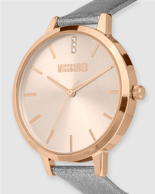 Missguided Missguided Grey Pearlised - Watches (Grey)