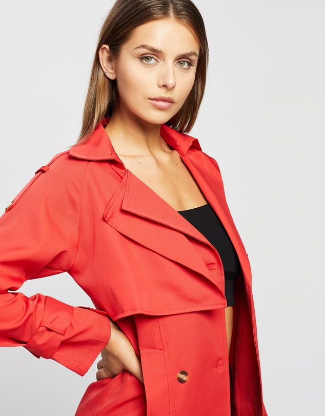 Women Willow Button-Front Trench Coat