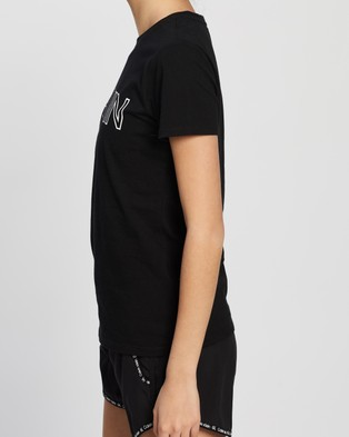 Calvin Klein Performance Outline Calvin Logo Short Sleeve Tee - Short Sleeve T-Shirts (Black)
