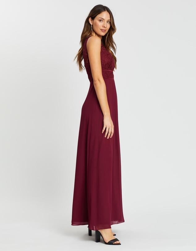Women Lace Bateau Dress
