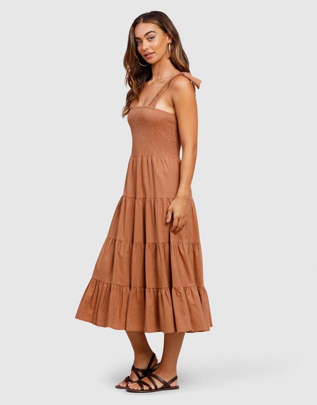 Women Summer Haze Strap Midi Dress