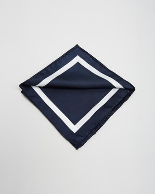 Gant Silk Pocket Square - Pocket Squares (Marine)