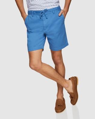 Oxford Freddy Chino Shorts - Shorts (Blue)