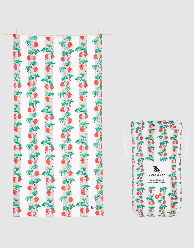 Dock & Bay - Extra Large Beach Towel 100% Recycled Jungle Collection