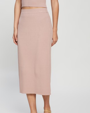 Elka Collective Airley Knit Skirt - Skirts (Dry Rose)