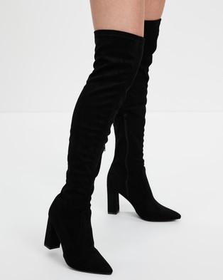 Dazie - Vexa Boots (Black Microsuede)