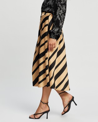Vero Moda Ekta High Waist Calf Skirt - Skirts (Tan)