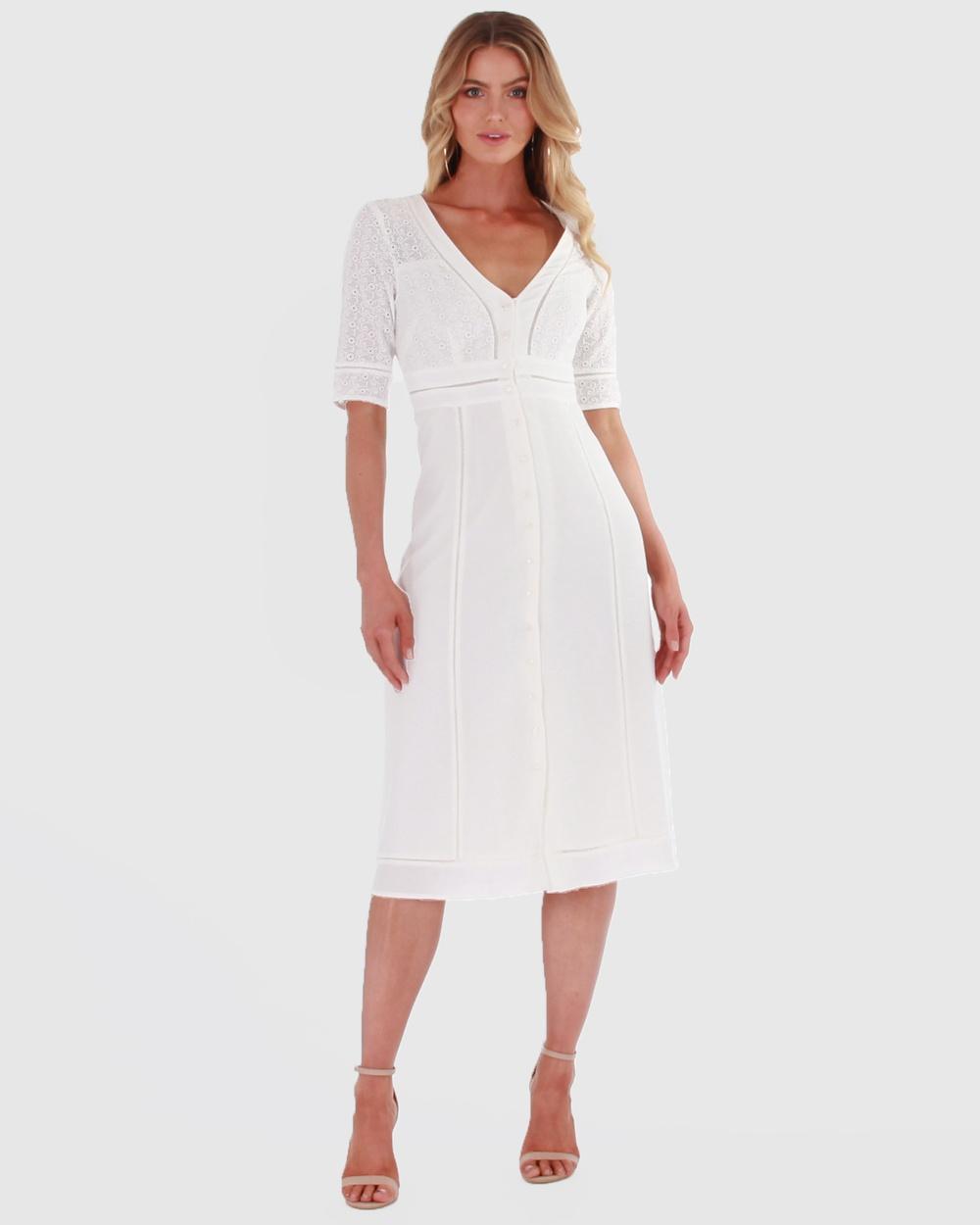 Amelius Etude Longline Dress Dresses White Etude Longline Dress