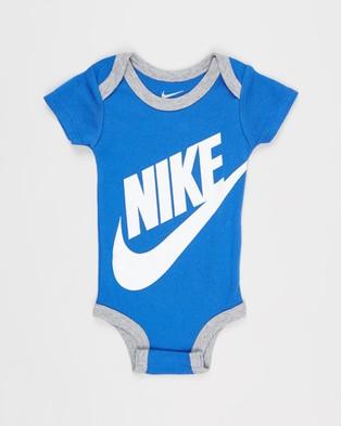 Nike Futura Three Piece Bodysuit, Beanie & Booties Set   Babies - Headwear (Game Royal)