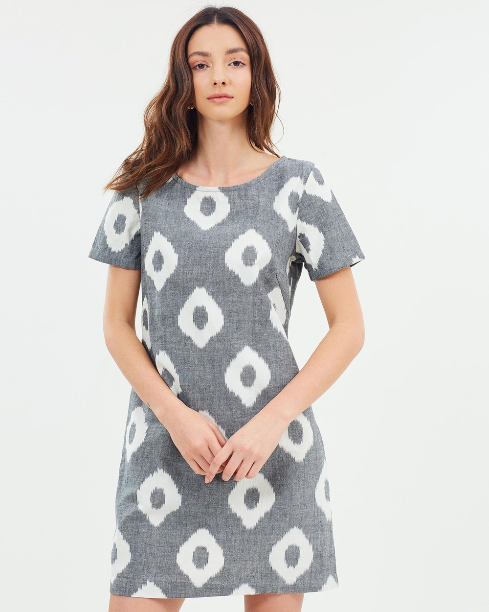 Carlie Ballard New Best Friend Dress Dresses Grey Spot  New Best Friend Dress