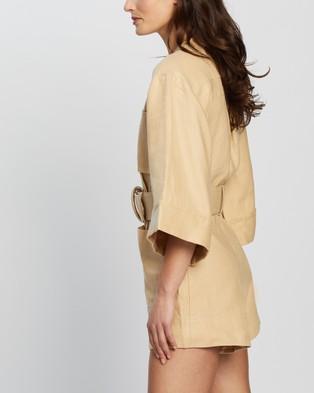 Shona Joy Carmen Box Sleeve Boiler Suit - Jumpsuits & Playsuits (Natural)