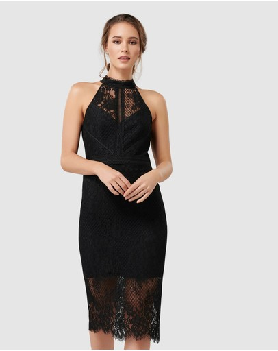 Forever New - Lena High Neck Lace Bodcyon