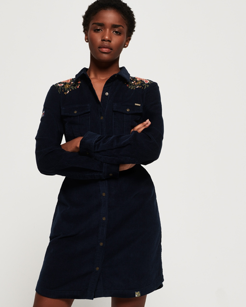 Superdry Winter Navy Grace Cord Dress