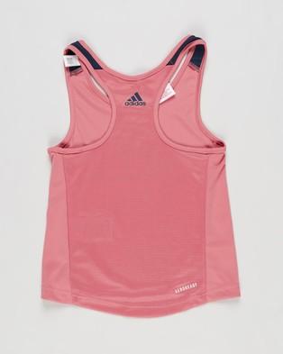 adidas Performance Designed To Move Tank Top   Kids Teens - T-Shirts & Singlets (Hazy Rose & Crew Navy)