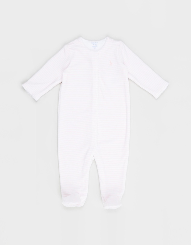 Polo Ralph Lauren - Velour Stripe One-Piece Coverall - Babies