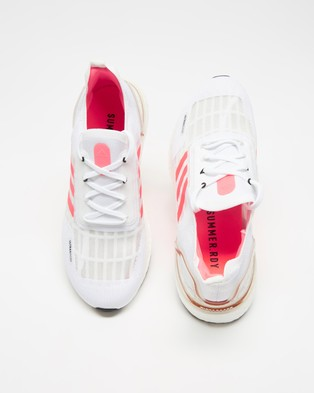 adidas Performance Ultraboost SUMMER.RDY   Women's - Performance Shoes (Footwear White, Signal Pink & Core Black)