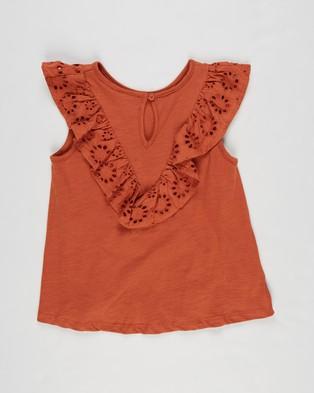 Cotton On Kids Juliette Short Sleeve Top   Kids Teens - Tops (Roasted Almond)