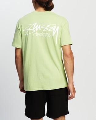 Stussy - Designs Tee - T-Shirts & Singlets (Lime) Designs Tee