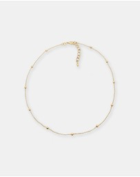 Elli Jewelry - Necklace Choker Ball Geo 925 Silver Gold Plated