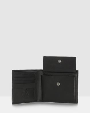 Cobb & Co Corey RFID Leather Bi Fold Wallet - Wallets (BLACK)