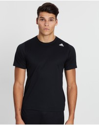 adidas Performance - FreeLift Sport Fitted 3-Stripes Tee