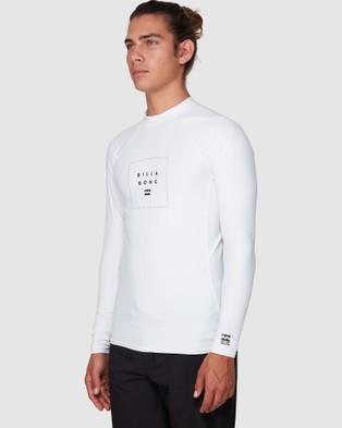 Billabong Stacked Long Sleeve Pf Swimwear WHITE