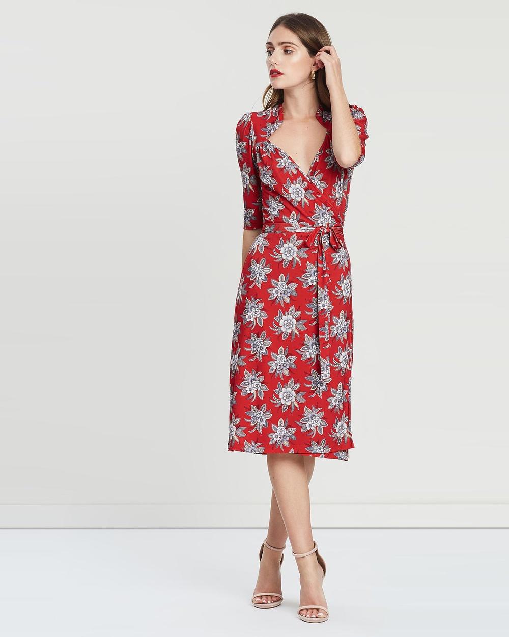 Leona Edmiston RTW Posey Floral Daisy Wrap Dress