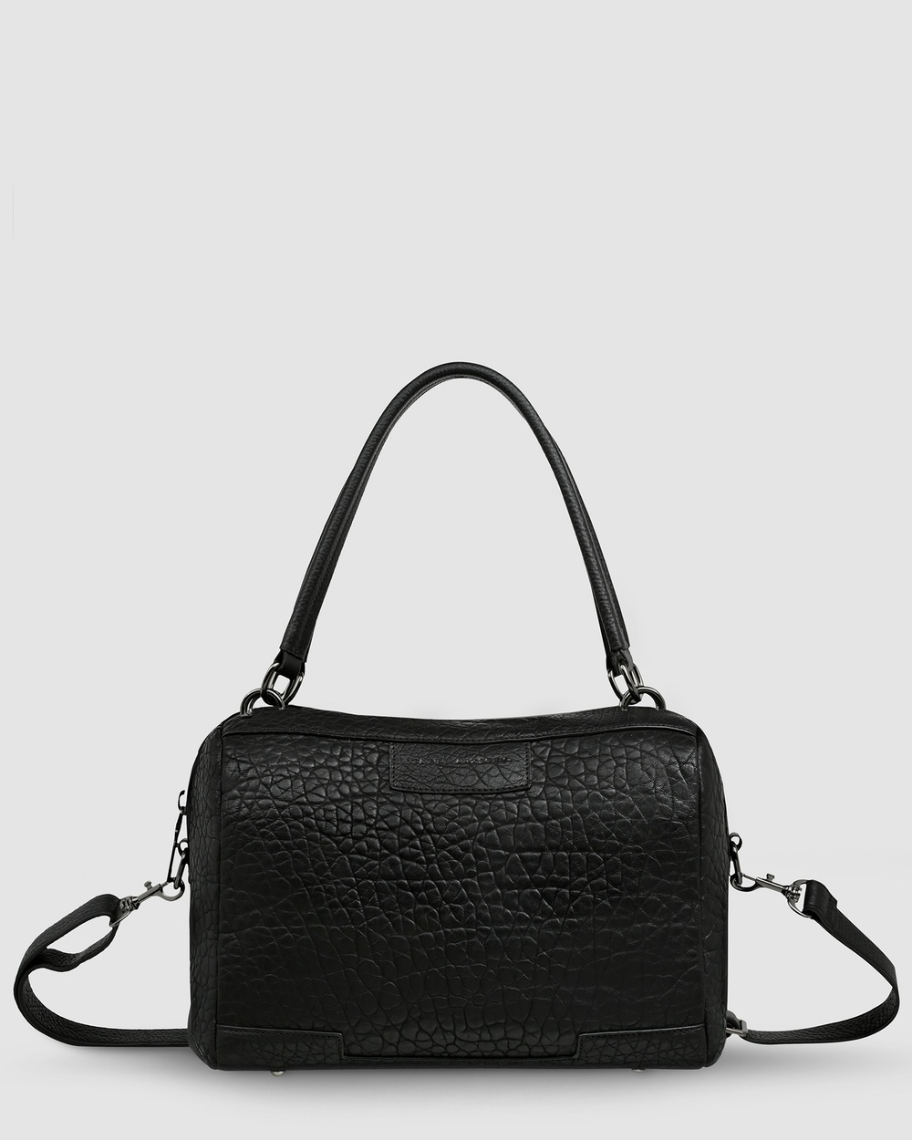 Status Anxiety Don't Ask Bag Satchels Black Bubble Leather bags Australia