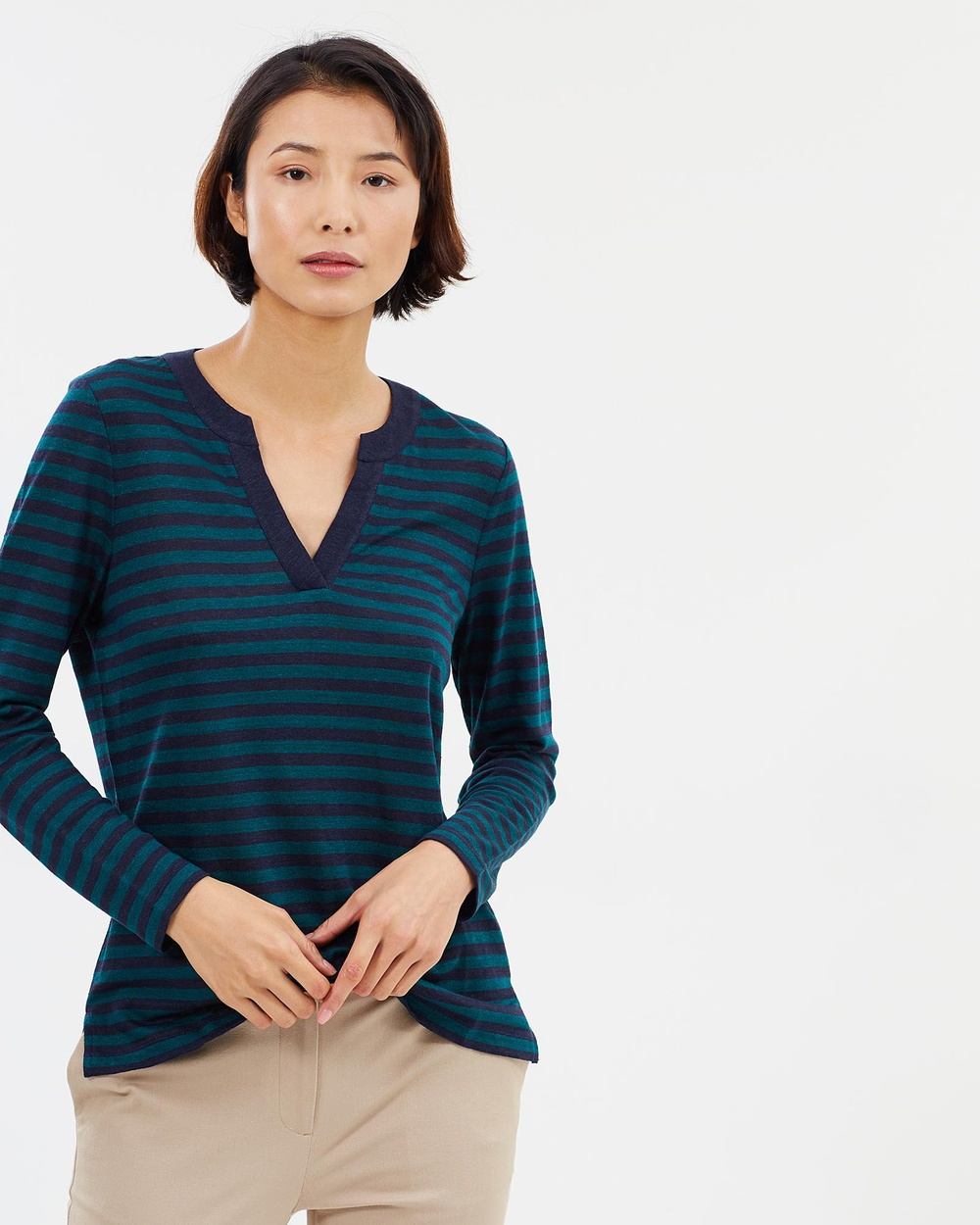 Sportscraft Maxwell Stripe Top Tops blue Maxwell Stripe Top